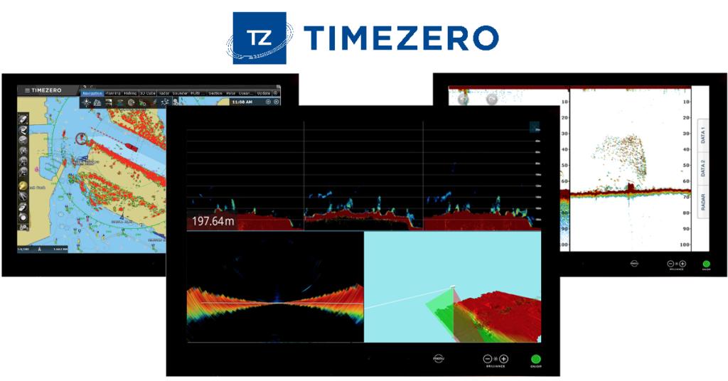 TimeZero_flerskjerm_DFF1UHD_Radar_WASSP_multistråleekkolodd