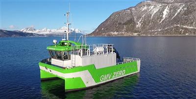 Furuno på verdens første helelektriske arbeidsbåt