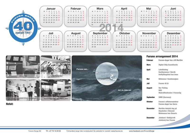 Skrivebordsunderlag/ kalender 2014