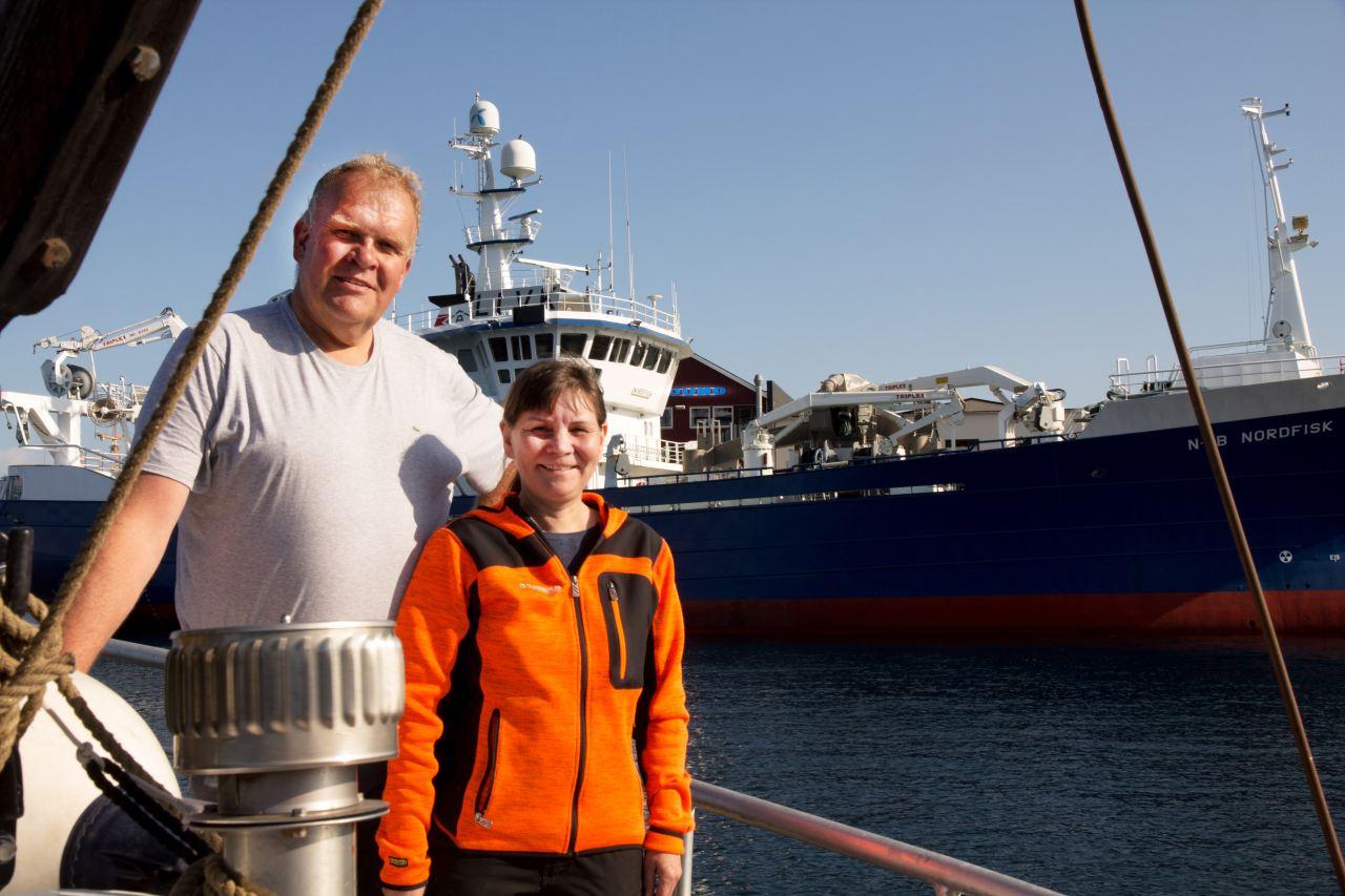 Tine fra TT Maritim og reder på Nordfisk, Ivar Andreassen.